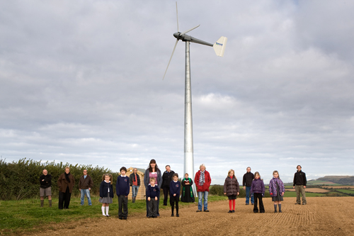 Ladock community-owned wind turbine